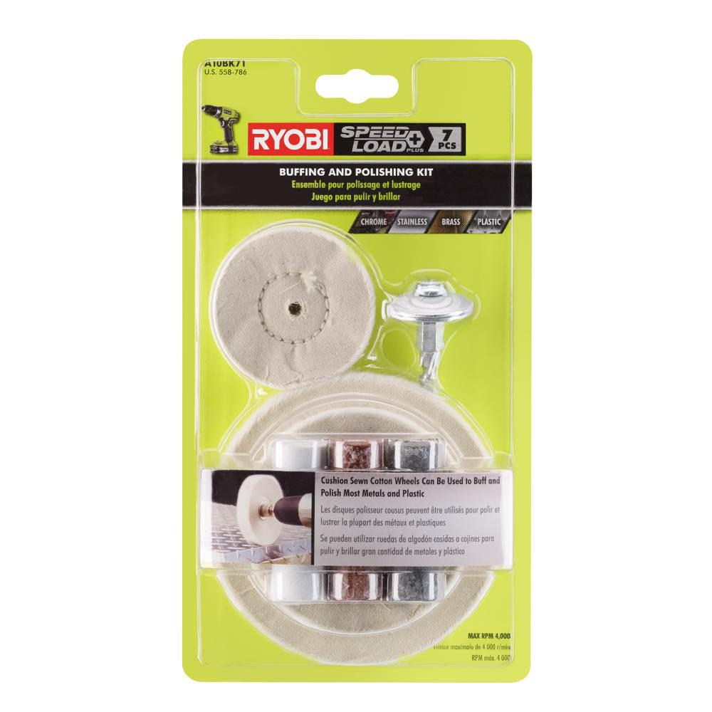 Ryobi Metal Buffing Kit 7 Piece A10bk71 The Home Depot