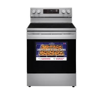 6.3 cu. ft. Smart Wi-Fi Enabled Fan Convection Electric Oven Range with AirFry and EasyClean in Stainless Steel