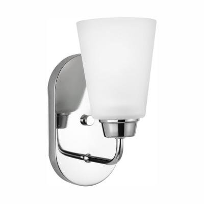 Kerrville 1-Light Chrome Sconce with LED Bulb