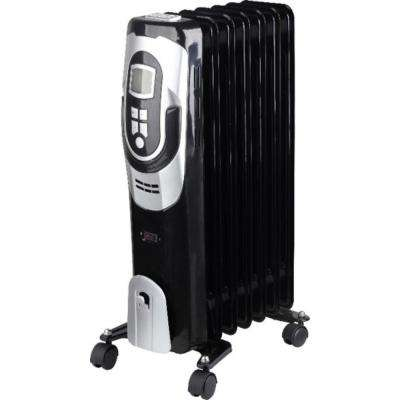 Deluxe 1500-Watt Electric Oil-Filled Radiator with Digital Controls and Easy Glide Casters