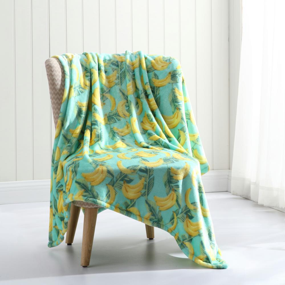 Morgan Home Tropical Plush Throw Blanket