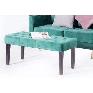 Brilliant Velvet Tufted Green Modern Ottoman Coffee Table Bench Pdpeps Interior Chair Design Pdpepsorg