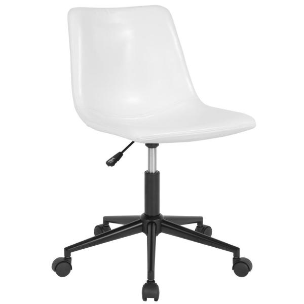 Flash Furniture White Leather Office/Desk Chair CGA-DS-231693-WH-HD