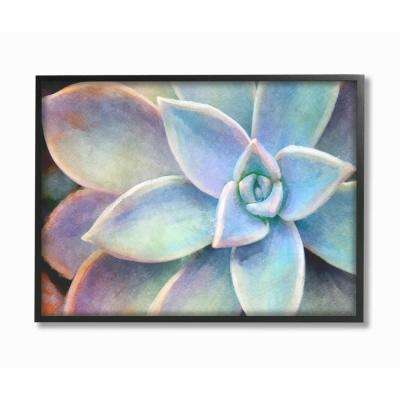 "16 in. x 20 in. ""Succulent Plant Vibrant Bloom Painting"" by Joshua Chace Framed Wall Art"