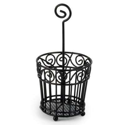 Scroll Hair and Beauty Accessory Caddy in Black