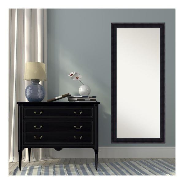 Annatto Mahogany Wood 29 in. W x 65 in. H Traditional Floor/Leaner Mirror