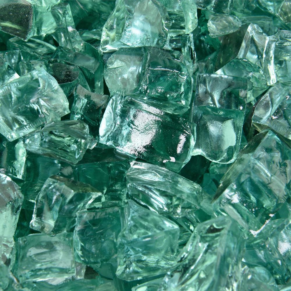 10 lbs. of Irish Green 1/2 in. Reflective Fire Glass