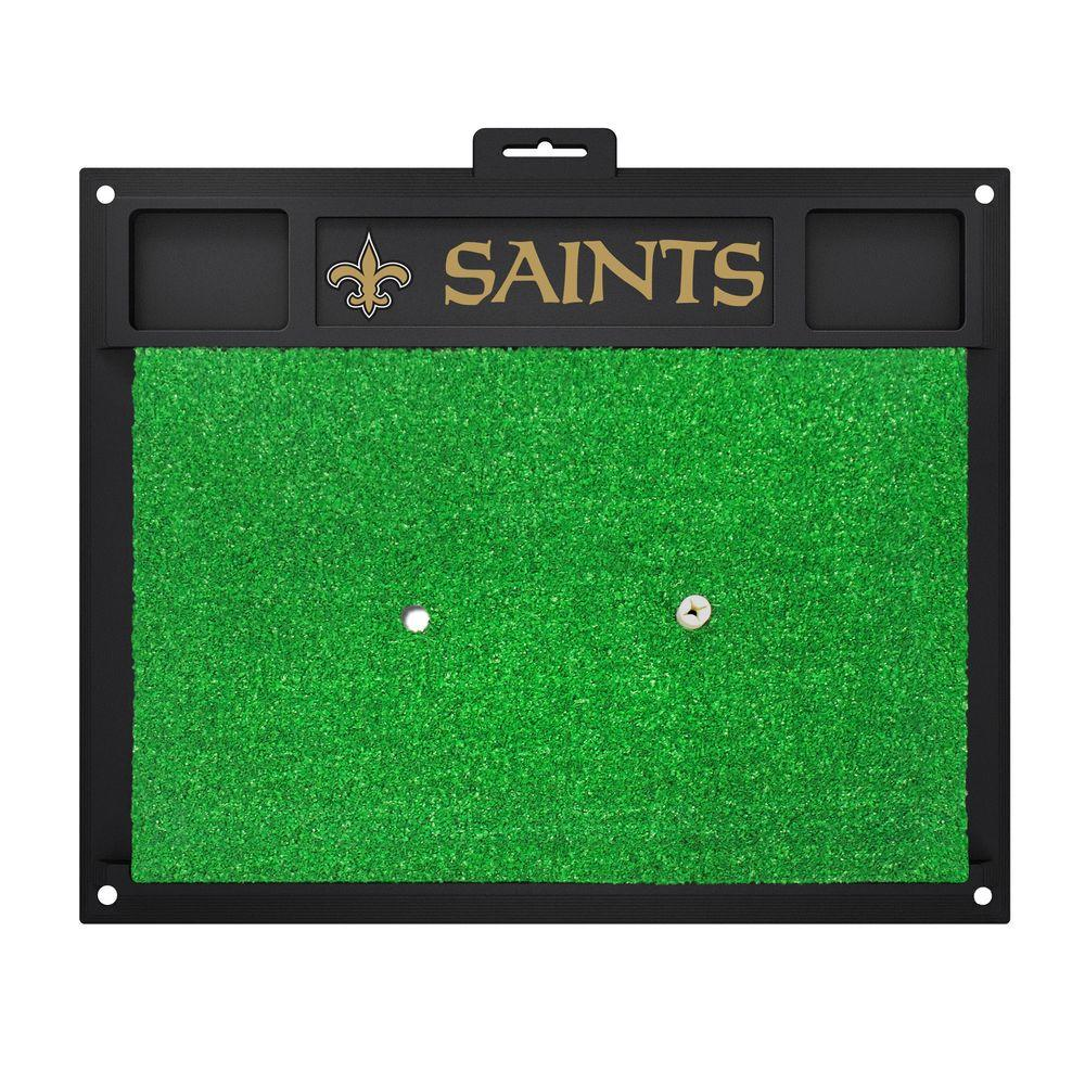 NFL New Orleans Saints 17 in. x 20 in. Golf Hitting