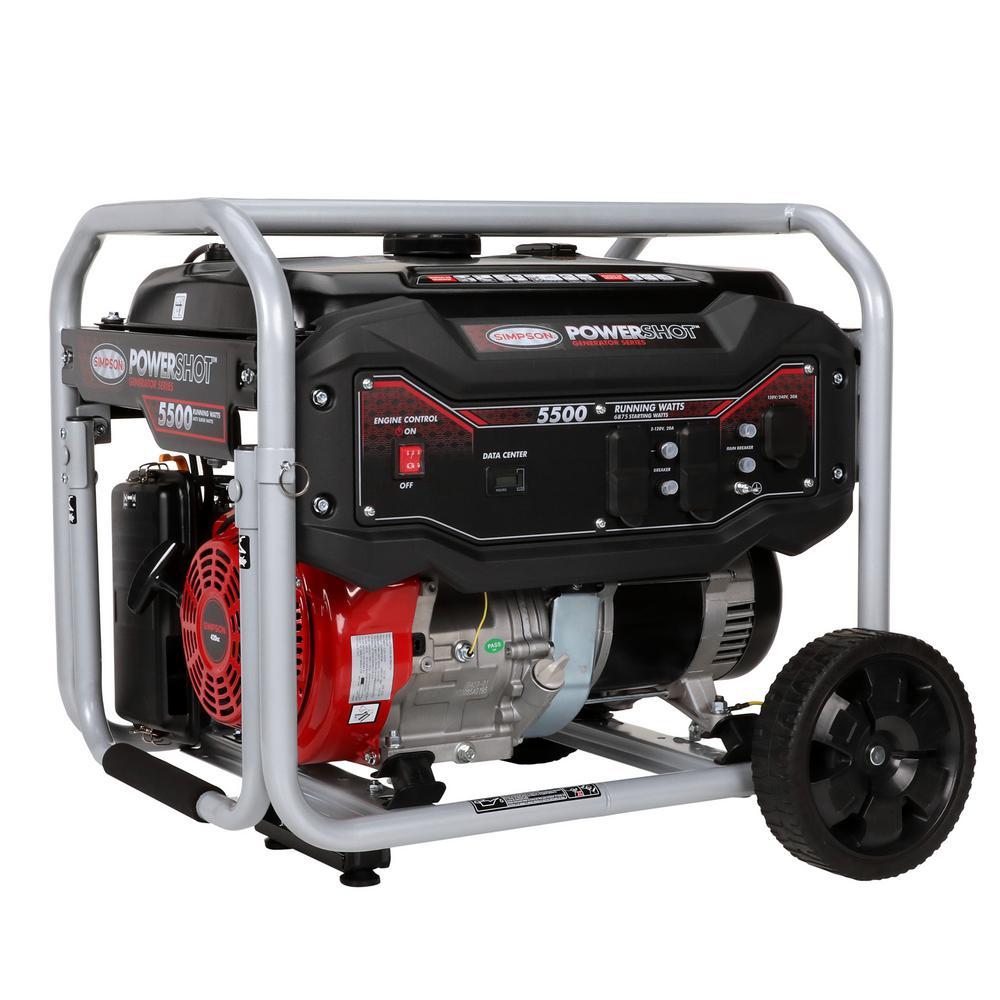 Simpson 5,500-Watt Gasoline Powered Portable Generator