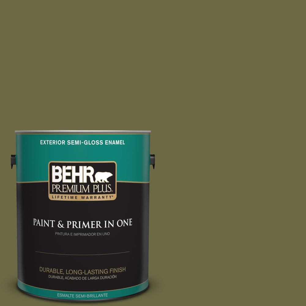 Home Decorators Collection 1-gal. #HDC-CL-20 Portsmouth Olive Semi-Gloss Enamel