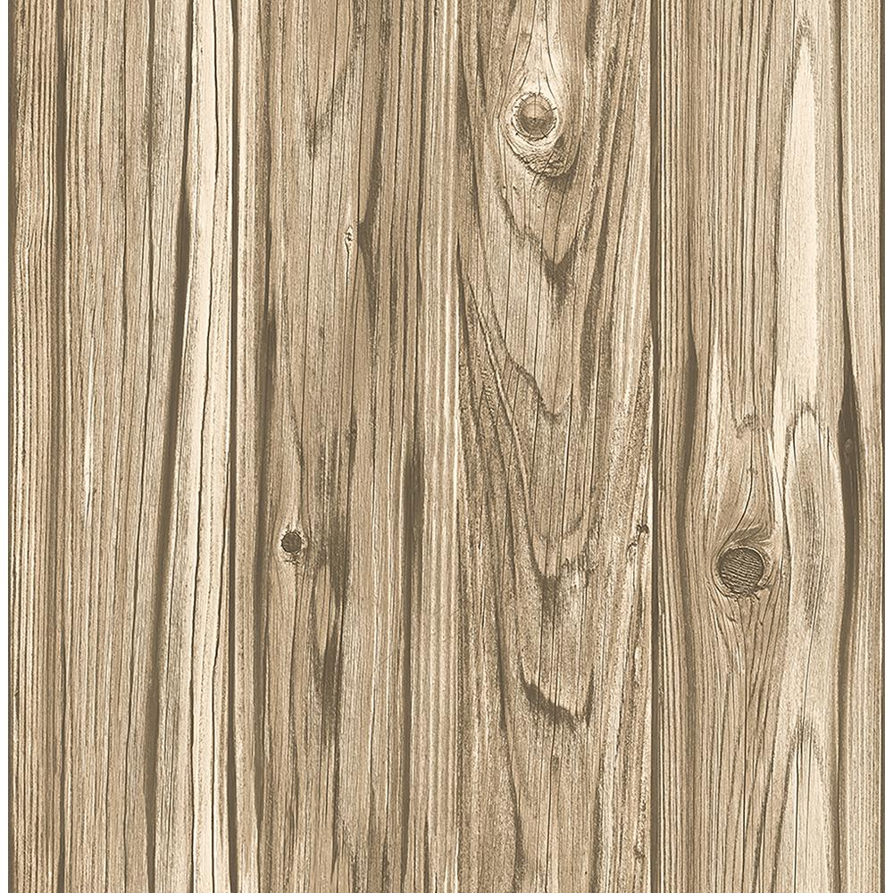 Brewster Paneling Brown Wide Plank Wallpaper Fd23281 The Home Depot