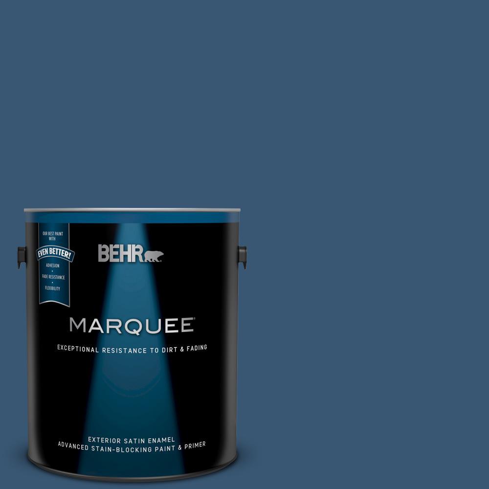 M500 6 Express Blue Satin Enamel Exterior Paint And