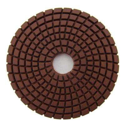 4 in. #400 Grit Wet Diamond Polishing Pad for Stone