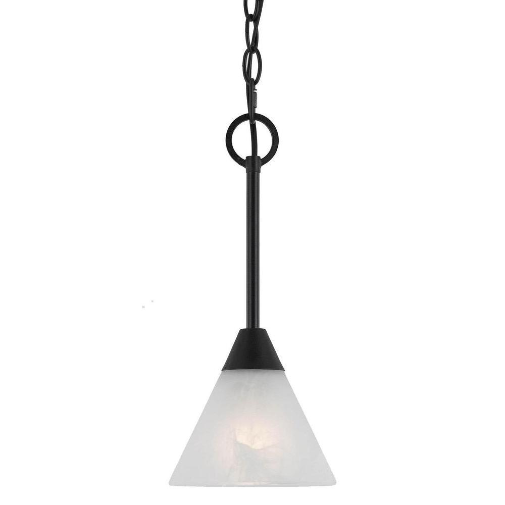 Illumine 1-Light Bronze Incandescent Ceiling Mini Pendant