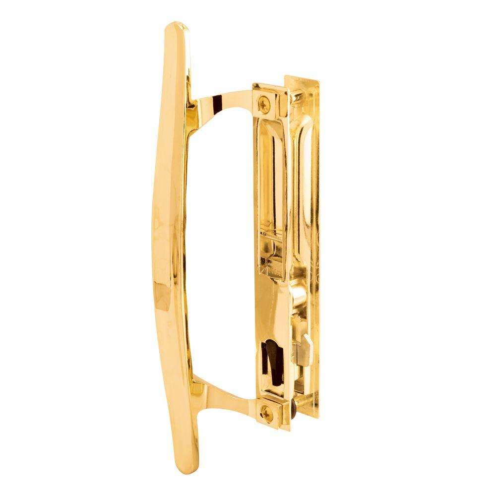 Prime-Line Brass Plated Flush Mounted Sliding Patio Door Handle