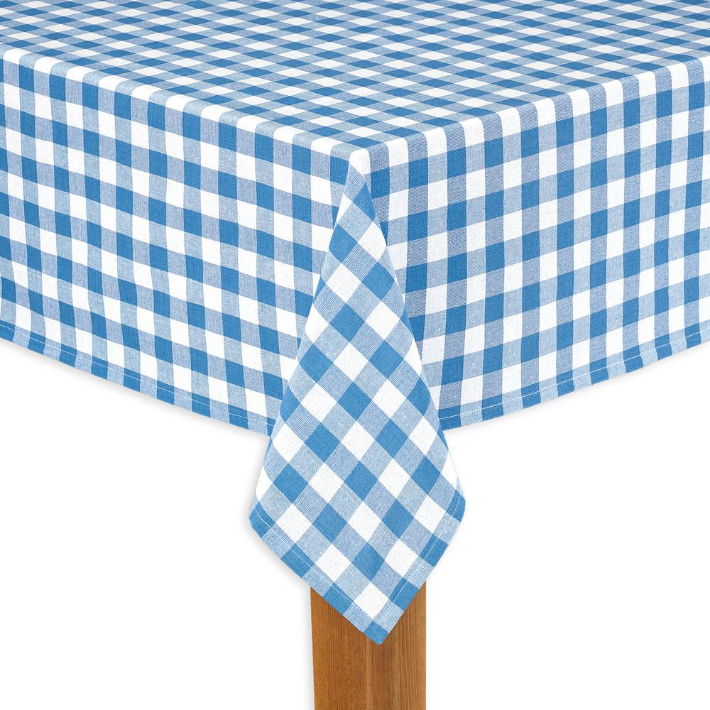Buffalo Check 70 in. Round Navy 100% Cotton Table Cloth for