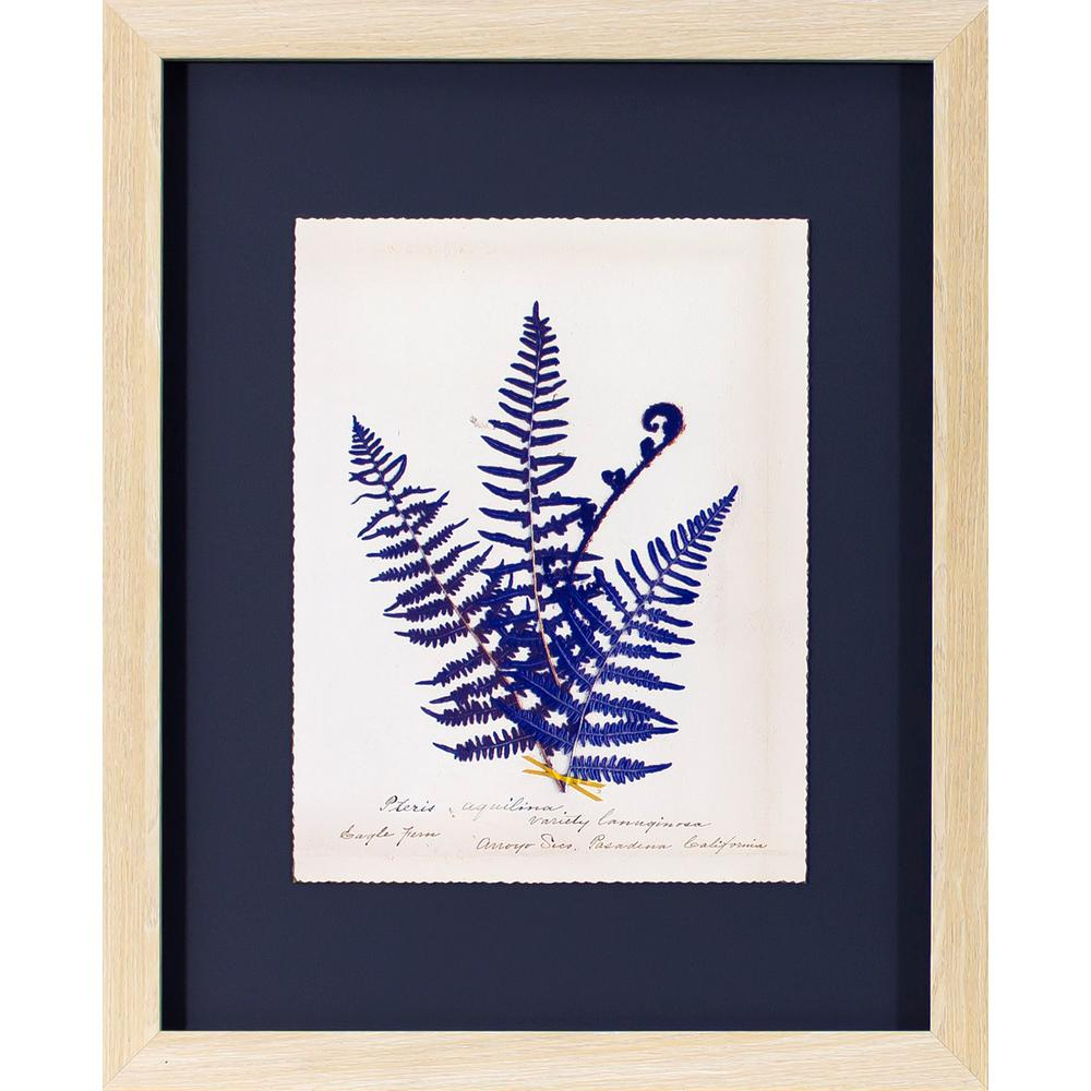 Decor therapy 22 in x 18 in fern on indigo printed for Decor therapy