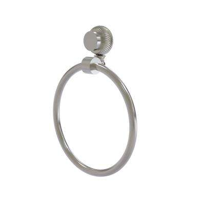 Venus Collection Towel Ring with Twist Accent in Satin Nickel