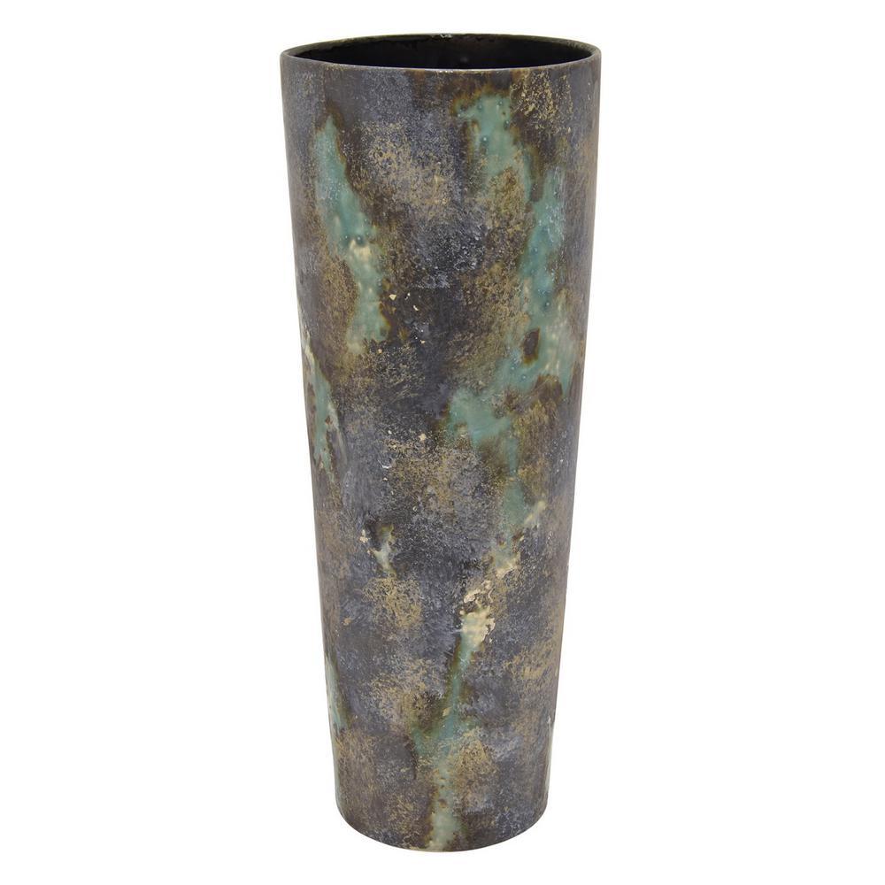 18.75 in. Green Ceramic Vase