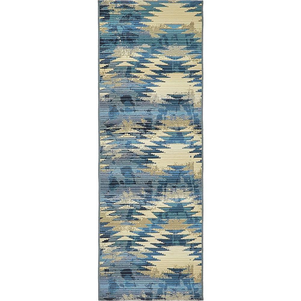 Outdoor Aztec Blue 2 0 X 6 Runner Rug