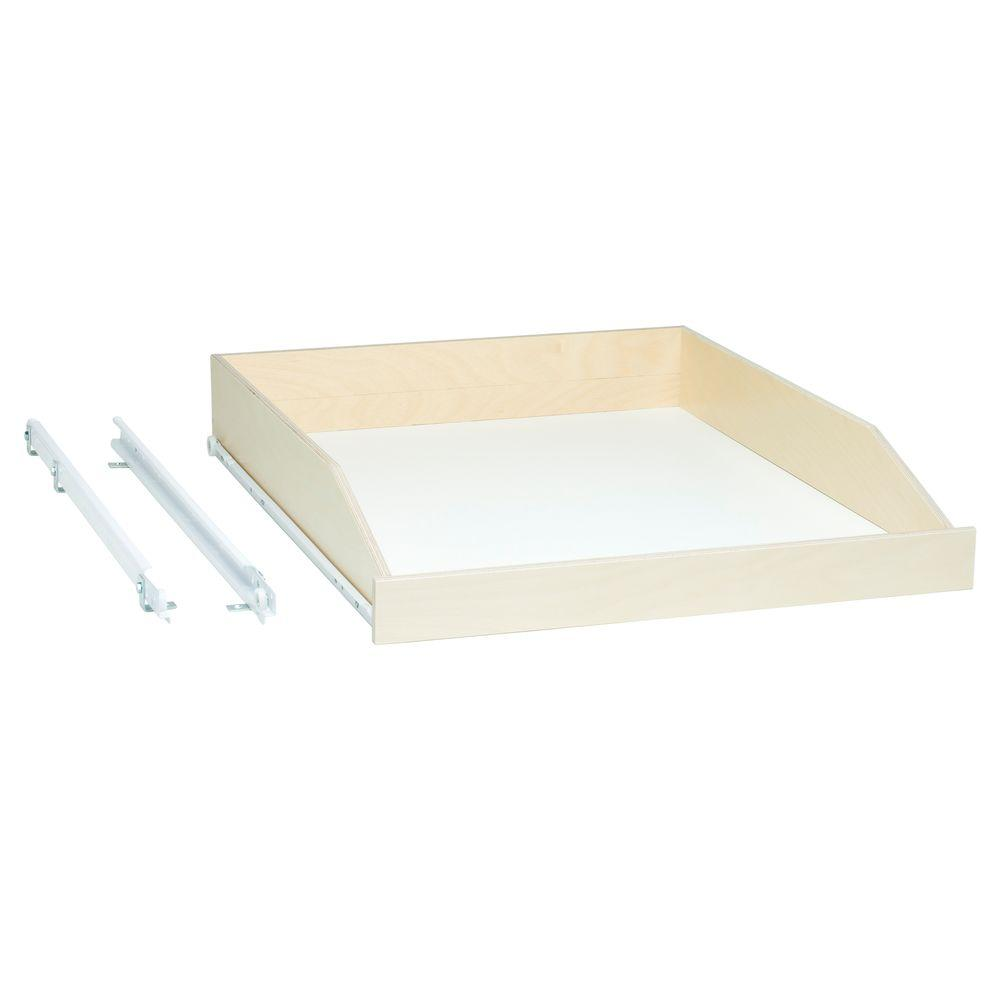 Slide-A-Shelf Made-To-Fit Slide-Out Shelf 6 in. to 36 in. Wide, 3/4  Extension, Choice of Wood Front