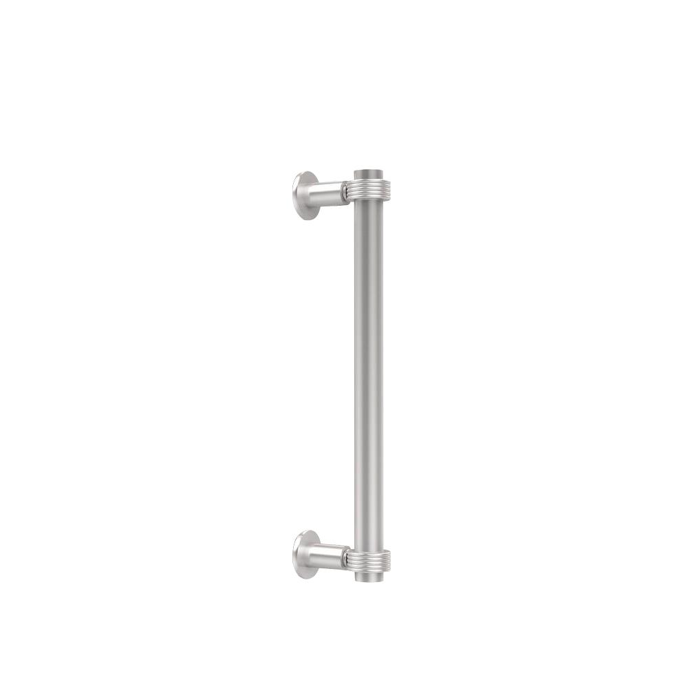 Back To Back Shower Door Pull With Grooved Accent In