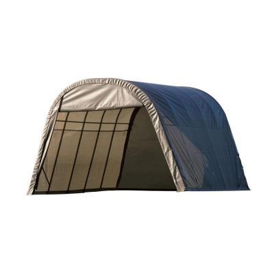 ShelterCoat 13 ft. x 28 ft. Wind and Snow Rated Garage Round Gray STD