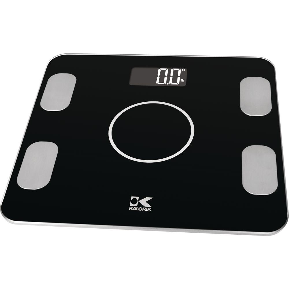 Bon KALORIK Bluetooth Electronic Body Fat Scale In Black