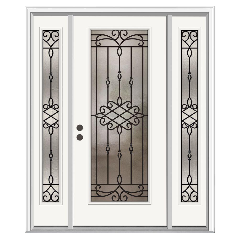 Full Lite Sanibel Primed Steel Prehung Right-Hand  sc 1 st  Home Depot & Rustic - Steel Doors - Front Doors - The Home Depot