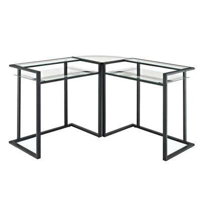 Black Glass Metal Media Audio Component Stand