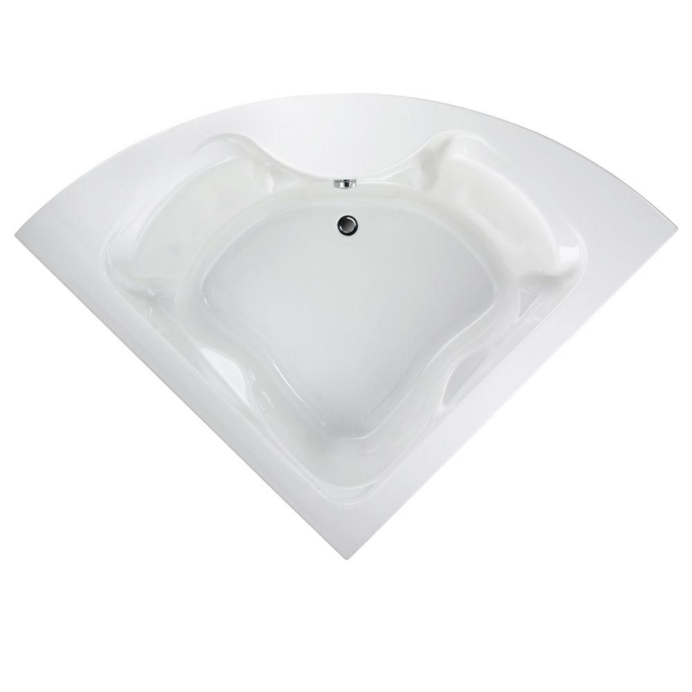 Cadet 5 ft. x 5 ft. Center Drain Corner Soaking Bathtub