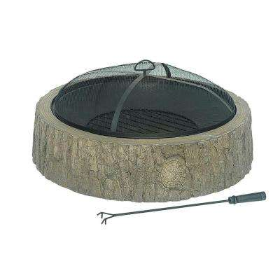 34 in. Faux Wood Backwoods Fire Pit
