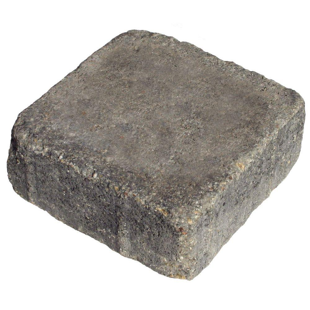 Basalite 5 in. x 5 in. Cottage Blend Tumbled Square Paver