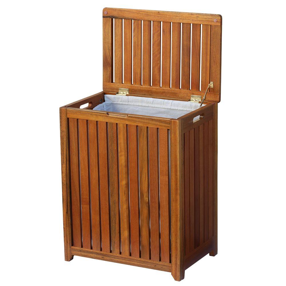 wooden laundry hamper oceanstar solid wood spa laundry hamper trh1330 the home 1176
