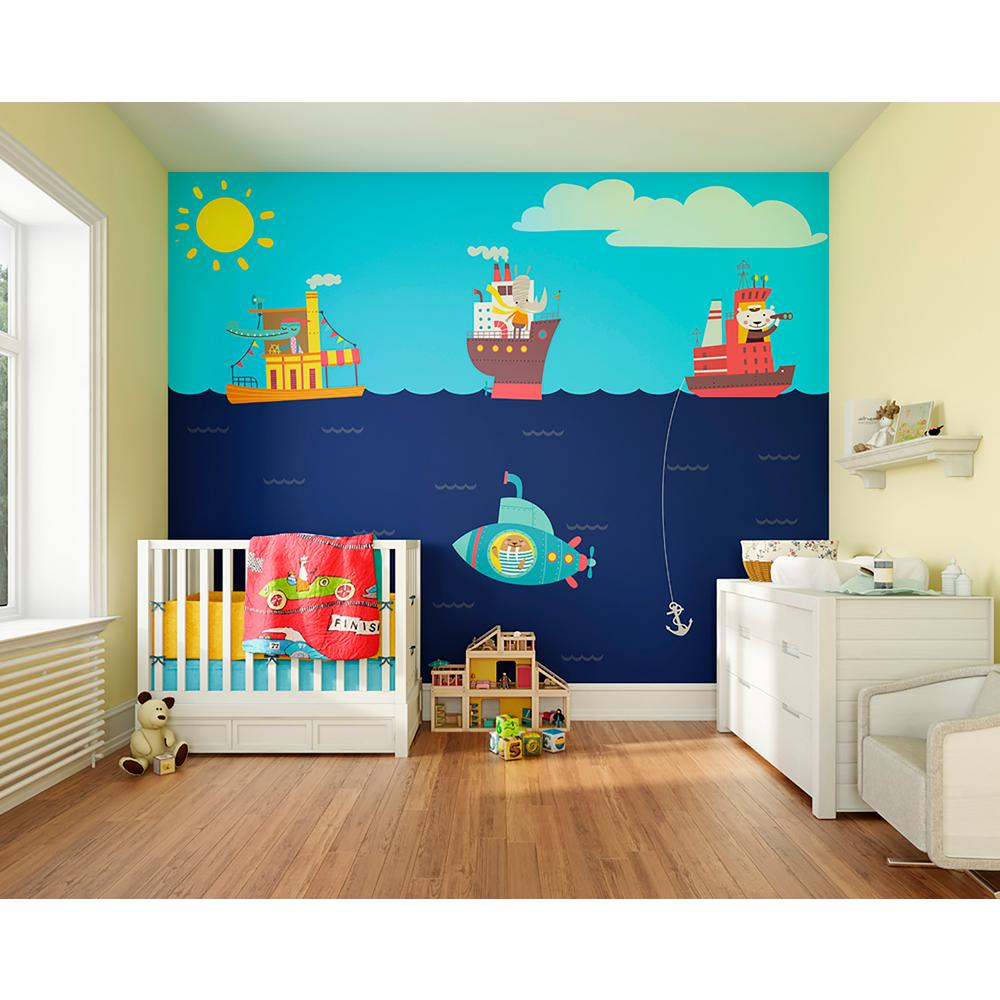 Ohpopsi Nautical Adventures Wall Mural Wals0342 The Home Depot