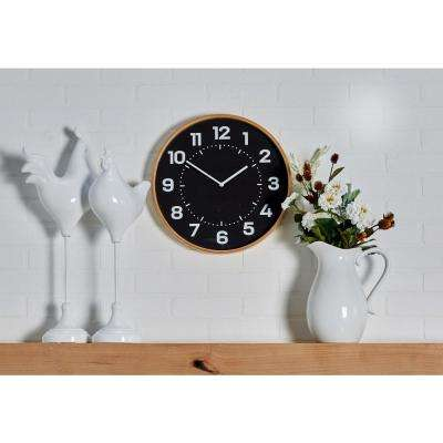 Multi-Colored Rustic Analog Wall Clock