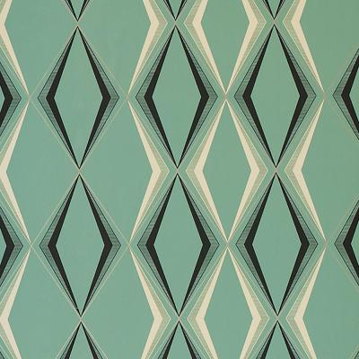 Deco Diamond Green Wallpaper Sample