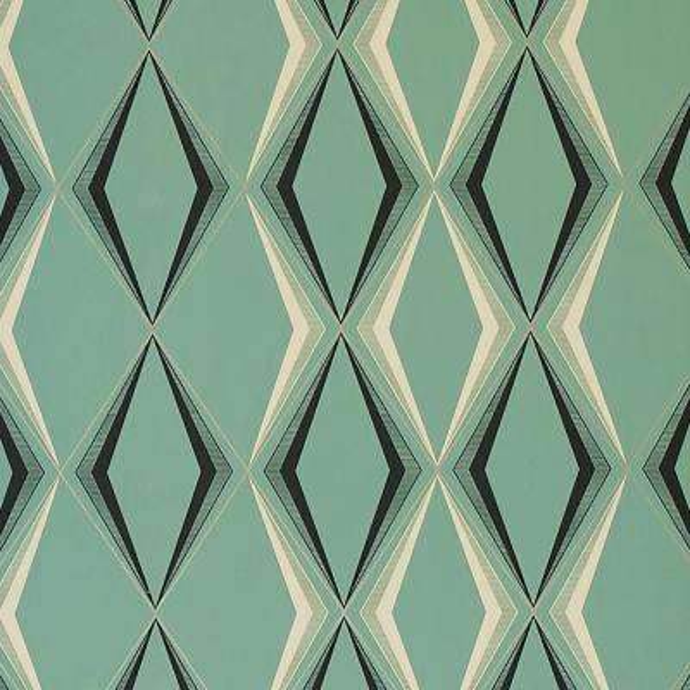 Deco Diamond Green Wallpaper Sample