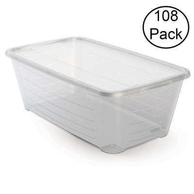 5.5 Qt. Rectangular Clear Protective Storage Shoe Box (108-Pack)