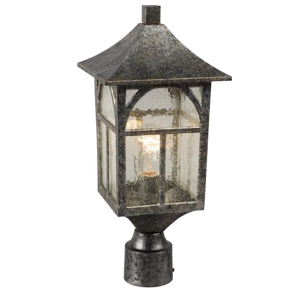 Filament Design Negron 1-Light Outdoor Antique Silver Post Lantern