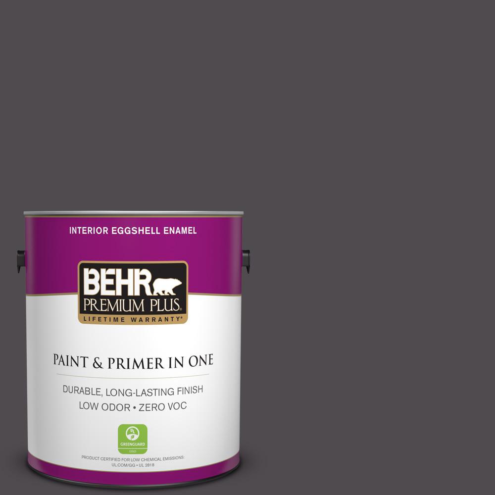 1-gal. #N570-7 Black Elegance Eggshell Enamel Interior Paint
