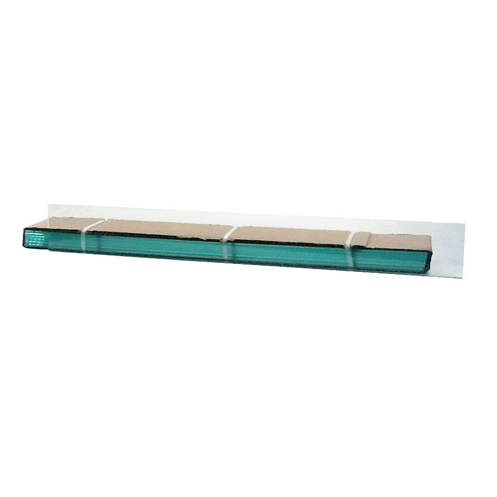 TAFCO WINDOWS 27.25 in. x 4 in. Jalousie Slats of Glass with Clear Polished Edges 5/CA