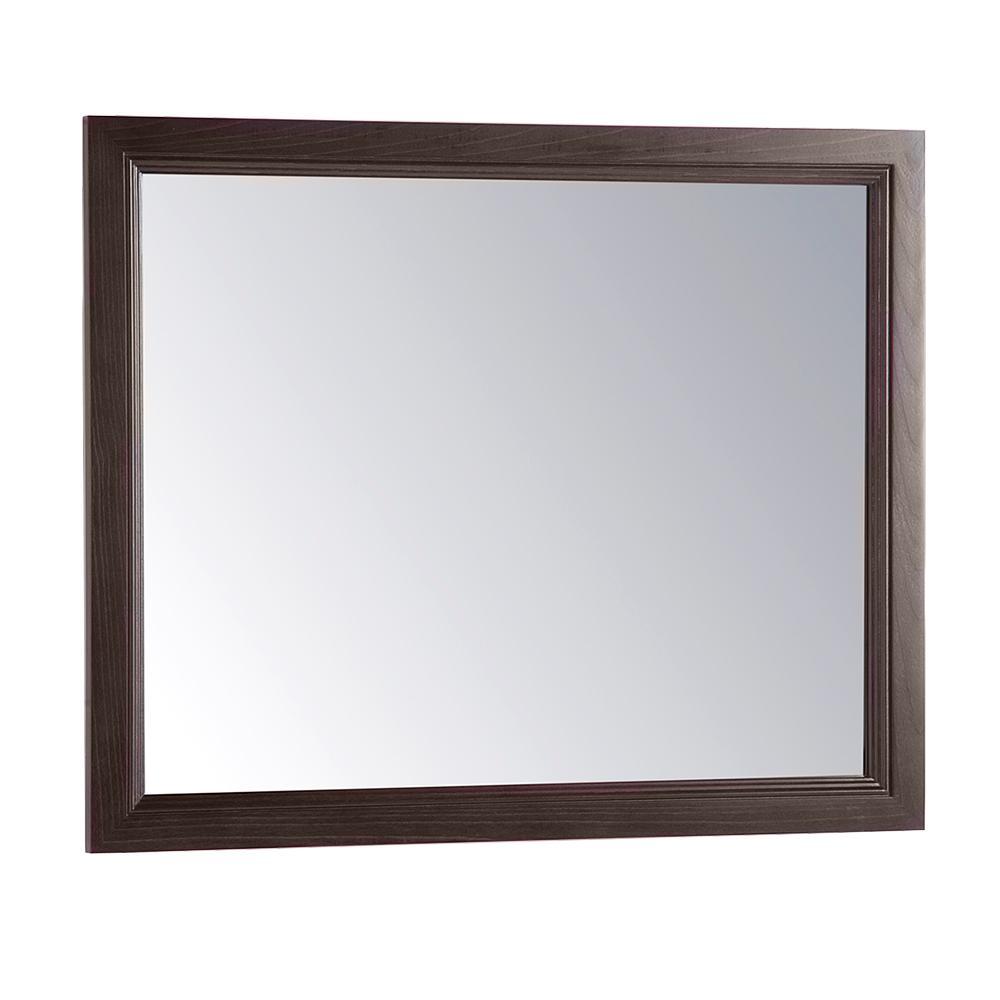 31 in. x 26 in. Framed Wall Mirror in Dusk