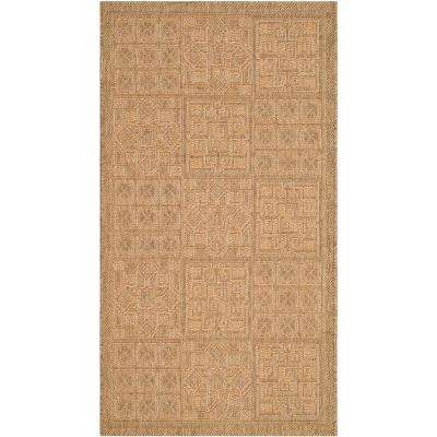 Courtyard Gold/Natural 3 ft. x 5 ft. Indoor/Outdoor Area Rug