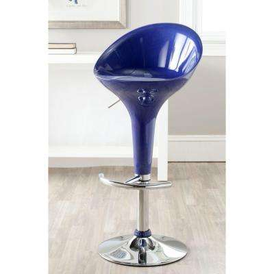 Zorab Adjustable Height Blue Bar Stool