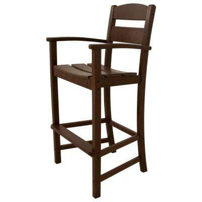 Classics Mahogany Plastic Outdoor Patio Bar Arm Chair