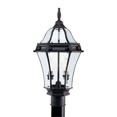 2-Light Outdoor Bronze Incandescent Post Lantern