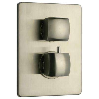Lady Thermostatic Shower Valve in Brushed Nickel