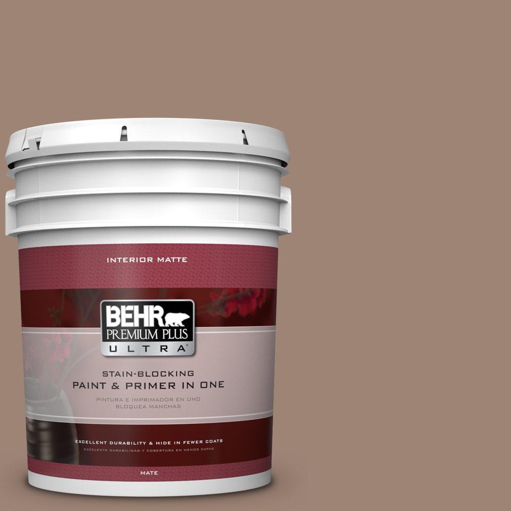 BEHR Premium Plus Ultra 5 gal. #760B-5 Blanket Brown Flat/Matte Interior Paint