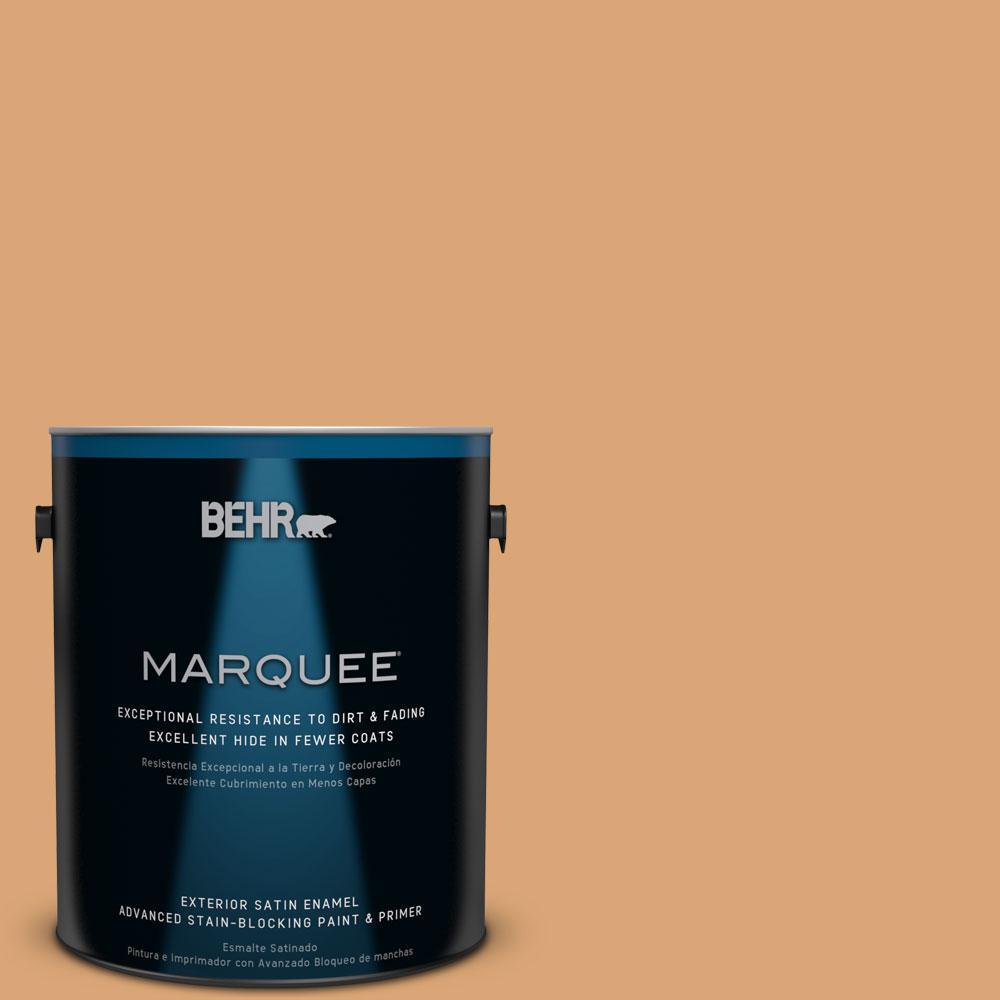 BEHR MARQUEE 1-gal. #BIC-14 Fresh Nectar Satin Enamel Exterior Paint